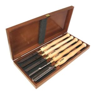 NAREX 859410 Set of woodturning chisels HSS LINE PROFI - มีดกลึงงานไม้ขนาดใหญ่เหล็ก HSS