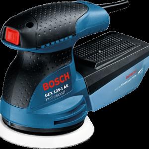 BOSCH GEX125-1AE Professional -Random Orbit Sander (เครื่องขัดกระดาษทรายลูกเบี้ยว 5 นิ้ว ปรับความเร็วรอบได้-250 วัตต์)