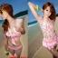 [พร้อมส่ง]BKN-049 ชุดว่ายน้ำบิกินี่เซ็ต 4 ชิ้น เสื้อคลุมผ้าชีฟองลายดอกไม้สวยๆ thumbnail 1