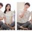 [PRE-ORDER] ชุดนอนคู่รัก ลายทางสีขาว thumbnail 4