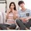 [PRE-ORDER] ชุดนอนคู่รัก ลายทางสีฟ้า-ชมพู thumbnail 2