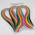 กระดาษสำหรับงานม้วนกระดาษ 3 mm set 3 packs (3 packs Quilling paper Strips)