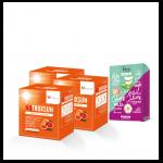 NUTROXSUN นูทรอกซ์ซัน 3 กล่อง + Envy Aloe Vera Snail Slime and Chamomile Facial Mask 1 กล่อง