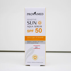 Provamed Sensitive Sun Aqua Serum SPF 50 ปริมาณสุทธิ 40 ml ครีมกันแดดสูตรน้ำ ไม่อุดตันก่อให้เกิดสิว