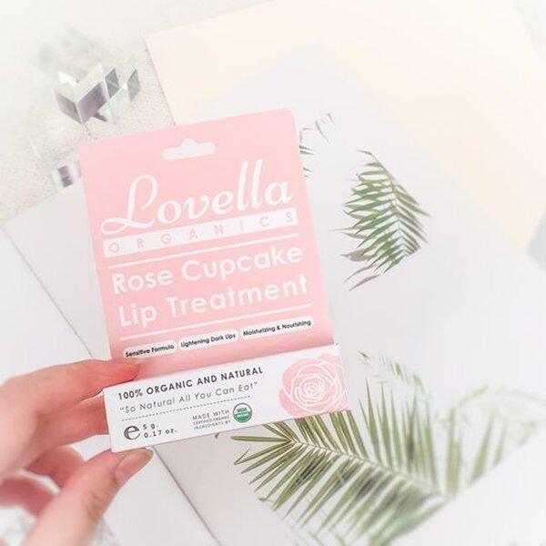 รูปภาพสินค้า ลิปบาล์มออร์แกนิค Lovella - Rose Cupcake Lip Treatment USDA certified